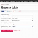 Step 2.3: Key in your working experience (Salary information will be kept private)