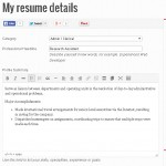 Step 2.4: Key in your professional detail, a general cover letter to summarize your working experience.